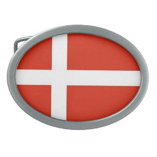Dannebrog; The Official Flag of Denmark Oval Belt Buckle