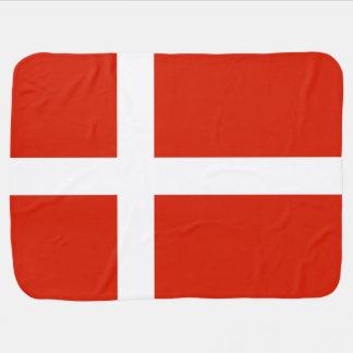 Dannebrog; The Official Flag of Denmark Stroller Blanket