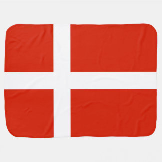 Dannebrog; The Official Flag of Denmark Receiving Blanket