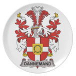 Dannemand Family Crest Party Plate