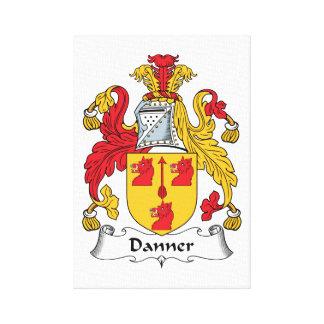 Danner Family Crest Canvas Print