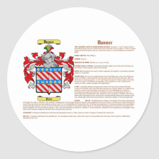 Danner (significado) pegatina redonda