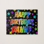 "[ Thumbnail: ""Danny"" First Name, Fun ""Happy Birthday"" Jigsaw Puzzle ]"