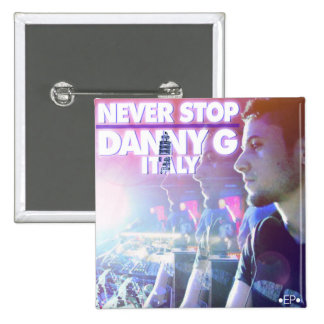 Danny G Italy Never Stop EP Cover Art Pin