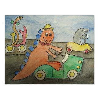 Danny the Dino Invition Card