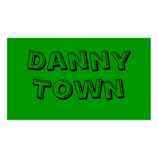 Danny, Town Double-Sided Standard Business Cards (Pack Of 100)