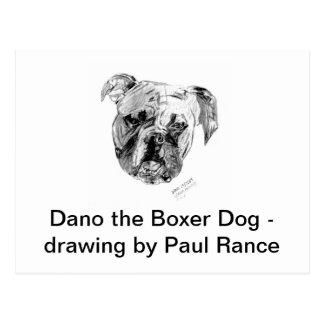 Dano el perro del boxeador tarjeta postal