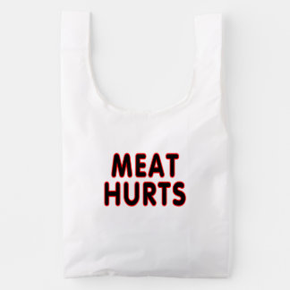 Daños de la carne bolsa reutilizable