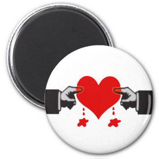 Daños del amor imán redondo 5 cm