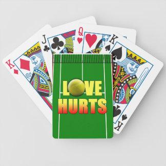 Daños del amor, tenis divertido barajas de cartas