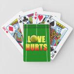 Daños del amor, tenis divertido cartas de juego