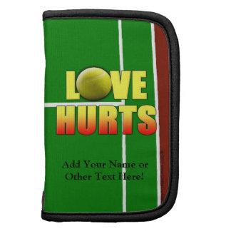 Daños del amor, tenis divertido organizadores
