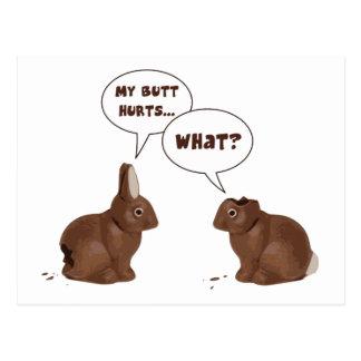 Daños del extremo de los conejos de conejito de postales