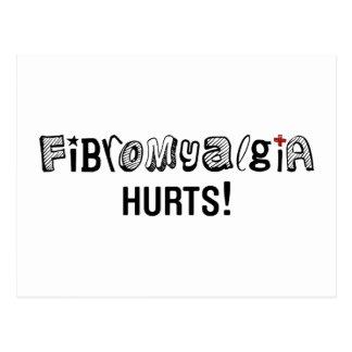 ¡Daños del Fibromyalgia! Conciencia Tarjetas Postales