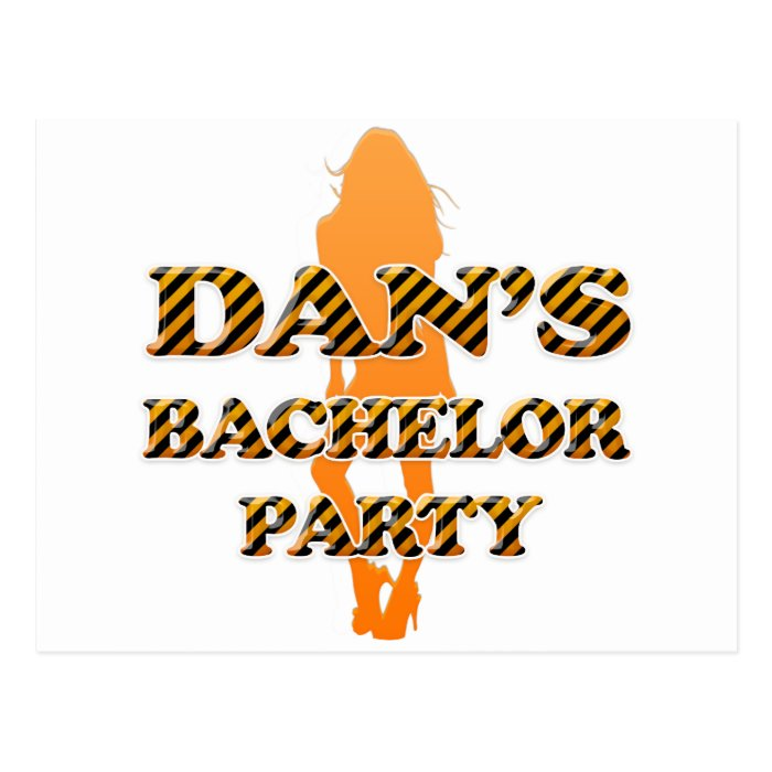 Dan's Bachelor Party Postcard