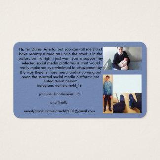 dans business card (1st product dans made)
