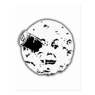 Dans le Lune Man de Le Voyage en luna Tarjeta Postal