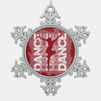 Danse et Lettres (Dance) Snowflake Pewter Christmas Ornament