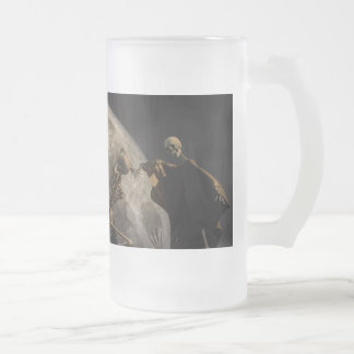 Danse Macabre Frosted Glass Beer Mug