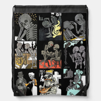 Danse macabre Jumble drawstring backpack