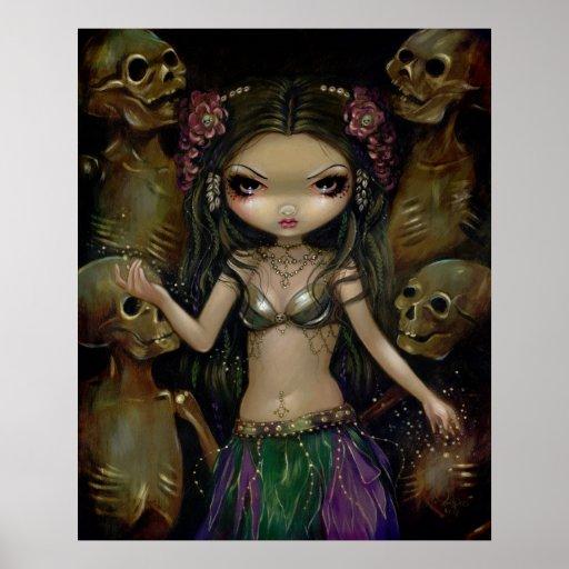 Danse Macabre - Tribal Fusion - gothic fairy Print