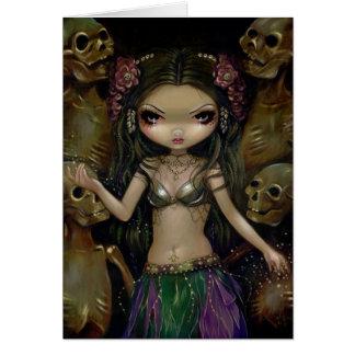 """Danse Macabre :  Tribal Fusion"" Greeting Card"