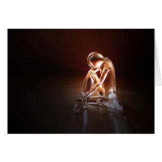 Danseur de verre Dancer glass Carte De Vœux