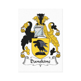 Danskine Family Crest Stretched Canvas Print