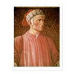 Dante Alighieri (1265-1321) detail of his bust, fr Postcards