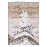 Dante Alighieri con versos del infierno, C divina Tarjeta De Felicitación