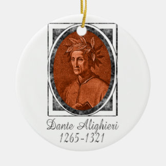 Dante Alighieri Double-Sided Ceramic Round Christmas Ornament