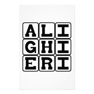 Dante Alighieri, Poet, Writer of The Divine Comedy Stationery Paper