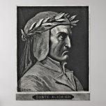 Dante Alighieri Portrait Etching Poster