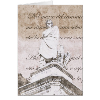 Dante Alighieri with verses from Inferno, Divine C Card