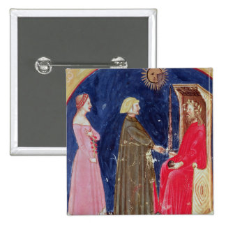 Dante and Beatrice before Justinian Pinback Button