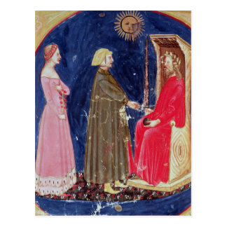 Dante and Beatrice before Justinian Postcard