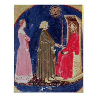 Dante and Beatrice before Justinian Print