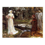 Dante and Beatrice by John William Waterhouse Post Card