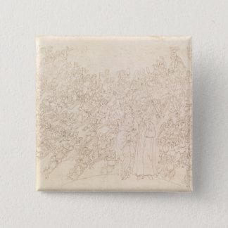Dante and Beatrice, from Dante's `Divine Pinback Button