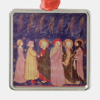Dante and Beatrice with the Saints of Paradise Metal Ornament