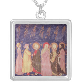 Dante and Beatrice with the Saints of Paradise Silver Plated Necklace