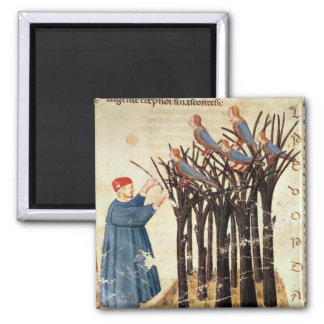 Dante and the Souls Transformed into Birds 2 Inch Square Magnet
