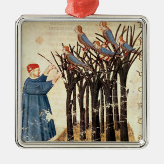 Dante and the Souls Transformed into Birds Square Metal Christmas Ornament