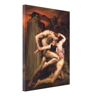 Dante and Virgil Gallery Wrapped Canvas