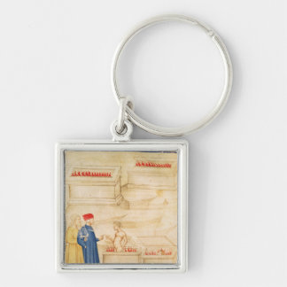 Dante and Virgil  discover Count Ugolino Keychain