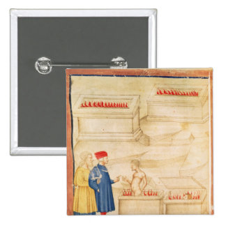 Dante and Virgil  discover Count Ugolino Pinback Button