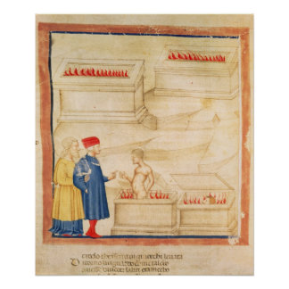 Dante and Virgil  discover Count Ugolino Poster