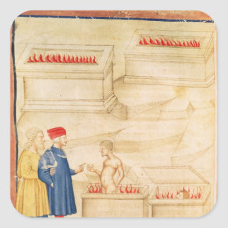 Dante and Virgil  discover Count Ugolino Square Sticker