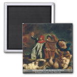 Dante And Virgil In Hell (The Barque Of Dante) 2 Inch Square Magnet