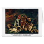 Dante And Virgil In Hell (The Barque Of Dante) Cards